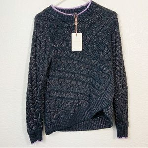 NWT Ted Baker London Cable Dark Green Sweater 2